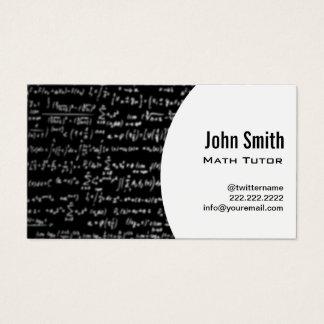Tarjeta De Visita Profesor particular de la matemáticas de las