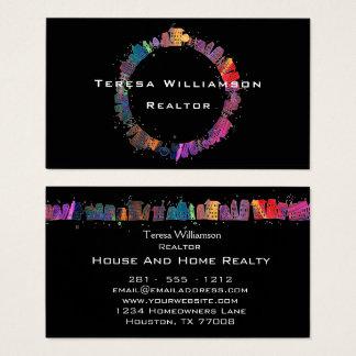 Tarjeta De Visita Propiedades inmobiliarias artísticas modernas de
