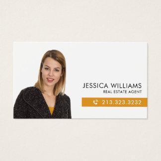 Tarjeta De Visita Propiedades inmobiliarias de la foto profesional