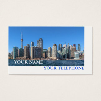 Tarjeta De Visita Propiedades inmobiliarias del horizonte de Toronto