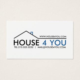 Tarjeta De Visita Propiedades inmobiliarias profesionales simples