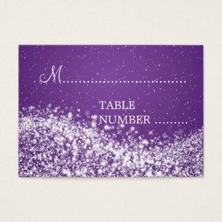 Tarjeta De Visita Púrpura chispeante de la onda de Placecards del