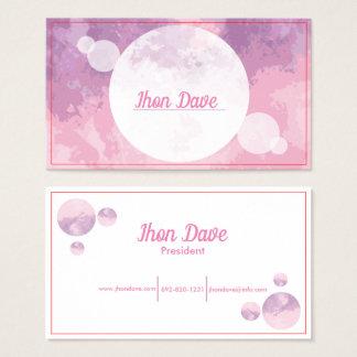 Tarjeta de visita púrpura rosada abstracta