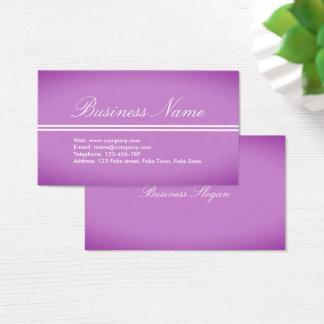 Tarjeta de visita Púrpura-Rosada profesional
