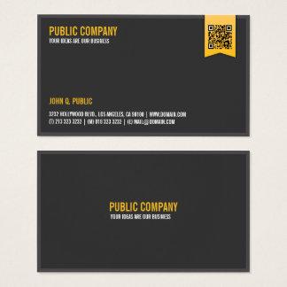 Tarjeta De Visita QR-Código corporativo elegante