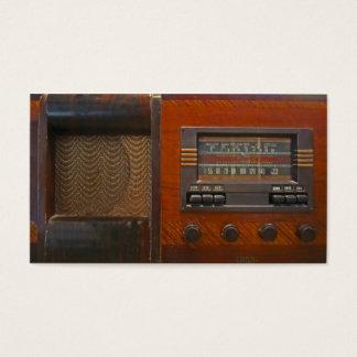 Tarjeta De Visita Radio del vintage