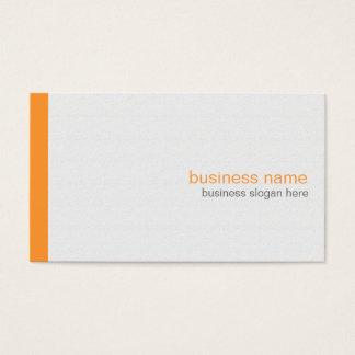 Tarjeta De Visita Raya anaranjada simple moderna elegante llana en