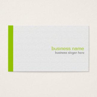 Tarjeta De Visita Raya verde simple moderna elegante llana en blanco
