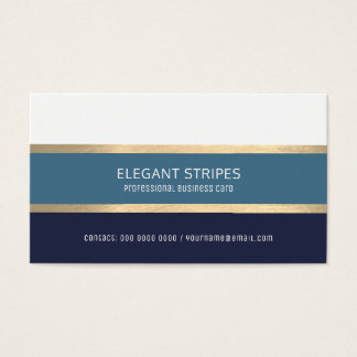 Tarjeta De Visita rayas azules modernas elegantes profesionales