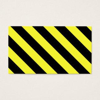Tarjeta De Visita rayas diagonales negro y amarillo
