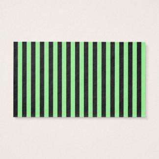 Tarjeta De Visita Rayas finas - negras y verdes claras