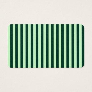 Tarjeta De Visita Rayas finas - verdes claras y verde oscuro