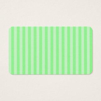 Tarjeta De Visita Rayas finas - verdes y verdes claras