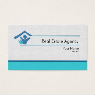 Tarjeta de visita real de agencia inmobiliaria del