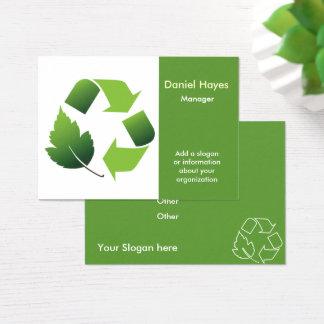 Tarjeta De Visita reciclaje de la compañía