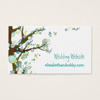 Tarjeta De Visita Recinto bohemio del Web site del boda del árbol