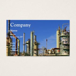 Tarjeta De Visita Refinería de petróleo