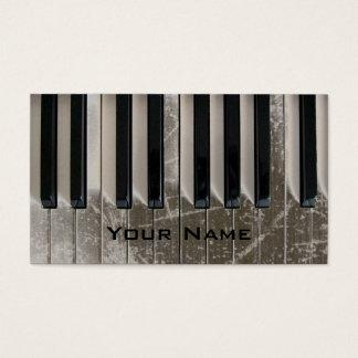 Tarjeta De Visita refresque la música rasguñada del piano del