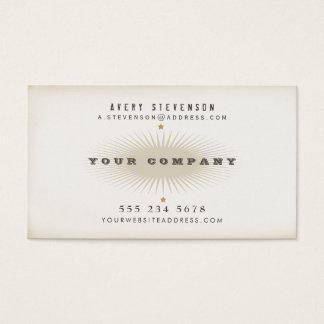 Tarjeta De Visita Refresque la tipografía envejecida del estilo del