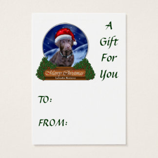 Tarjeta De Visita Regalos del navidad del labrador retriever del