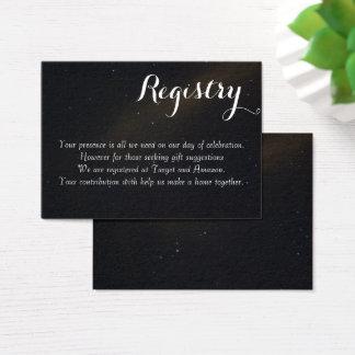 Tarjeta De Visita Registro celestial de los sueños