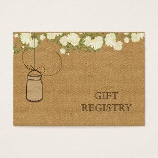 Tarjeta De Visita registro de regalos de marfil de los tarros de