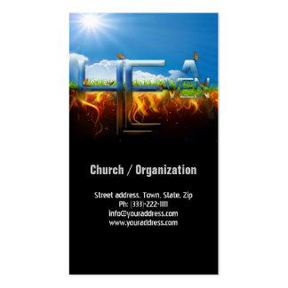 Tarjeta de visita religiosa de la iglesia del