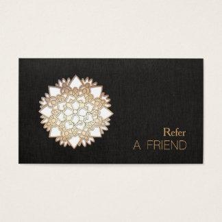 Tarjeta De Visita Remisión del salón y del balneario de la flor de