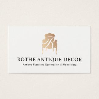 Tarjeta De Visita Restauración de los muebles y logotipo del