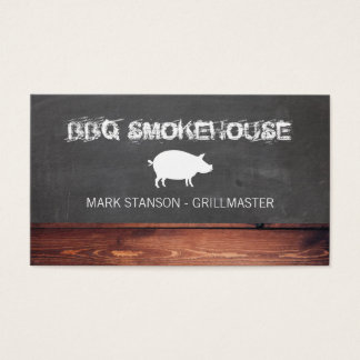 Tarjeta De Visita Restaurante/cerdo del Bbq
