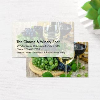 Tarjeta De Visita Restaurante del queso y del vino