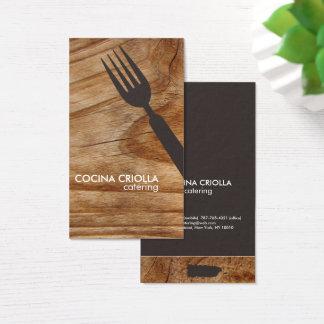 Tarjeta De Visita Restaurante puertorriqueño o abastecimiento