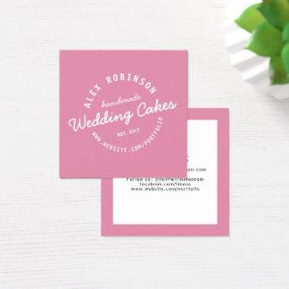 Tarjeta de visita retra rosada de la panadería del