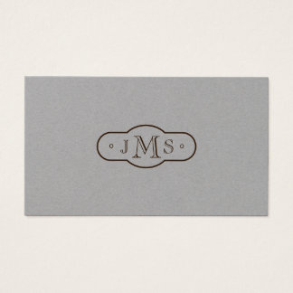 Tarjeta De Visita Retro elegante con monograma de la fuente de