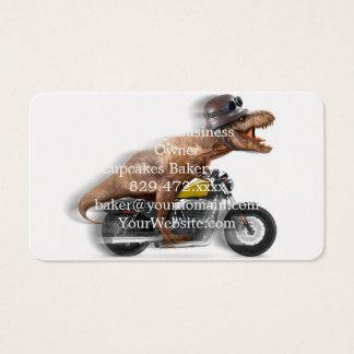 Tarjeta De Visita Rex del motocicleta-tyrannosaurus-t del rex de T -