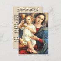Rezo precioso del St. Gertrudis de Jesús Maria de