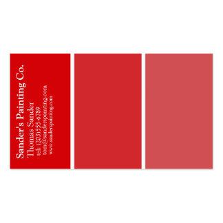 Tarjeta de visita roja de los pintores