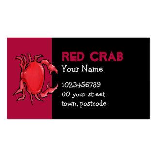 Tarjeta de visita roja del cangrejo rojo