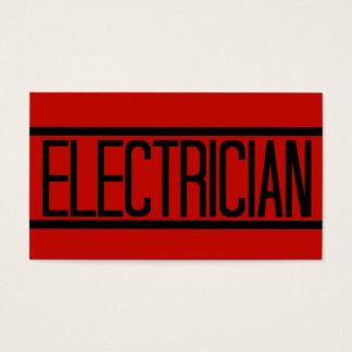 Tarjeta de visita roja del electricista