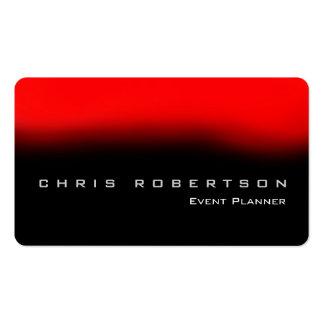 Tarjeta de visita roja del planificador de eventos