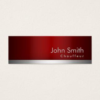 tarjeta de visita roja profesional del chófer del
