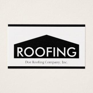 Tarjeta De Visita Roofer/Roofing Company de oro