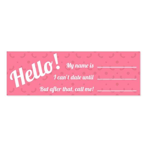 Tarjeta de visita - rosa cosquilleado