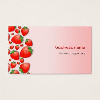 Tarjeta De Visita Rosa fresco de la fresa