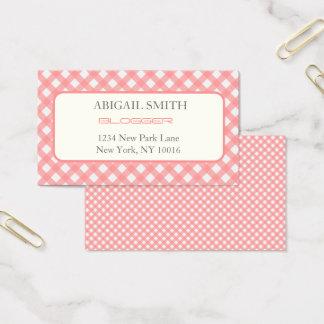 Tarjeta de visita rosada coralina de la impresión