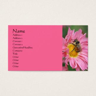 Tarjeta de visita rosada de la fotografía de la