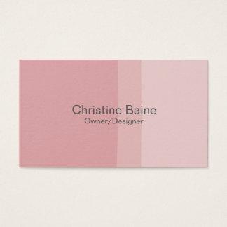 Tarjeta de visita rosada de la pintura