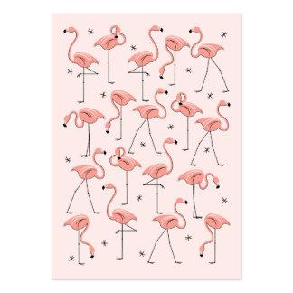 Tarjeta de visita rosada de los flamencos
