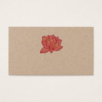 Tarjeta de visita rosada de Lotus