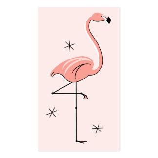 Tarjeta de visita rosada del flamenco